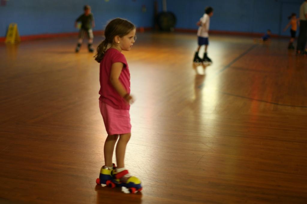 Maura on roller skates