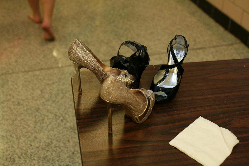Gold High Heels