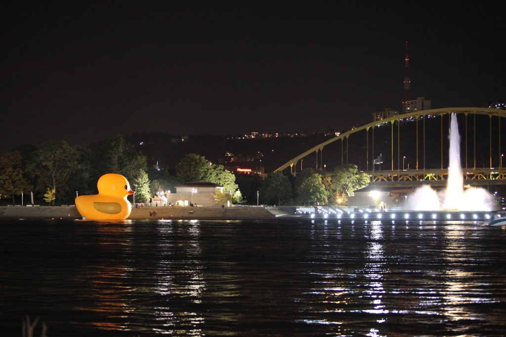 Rubber Duck and Fountain