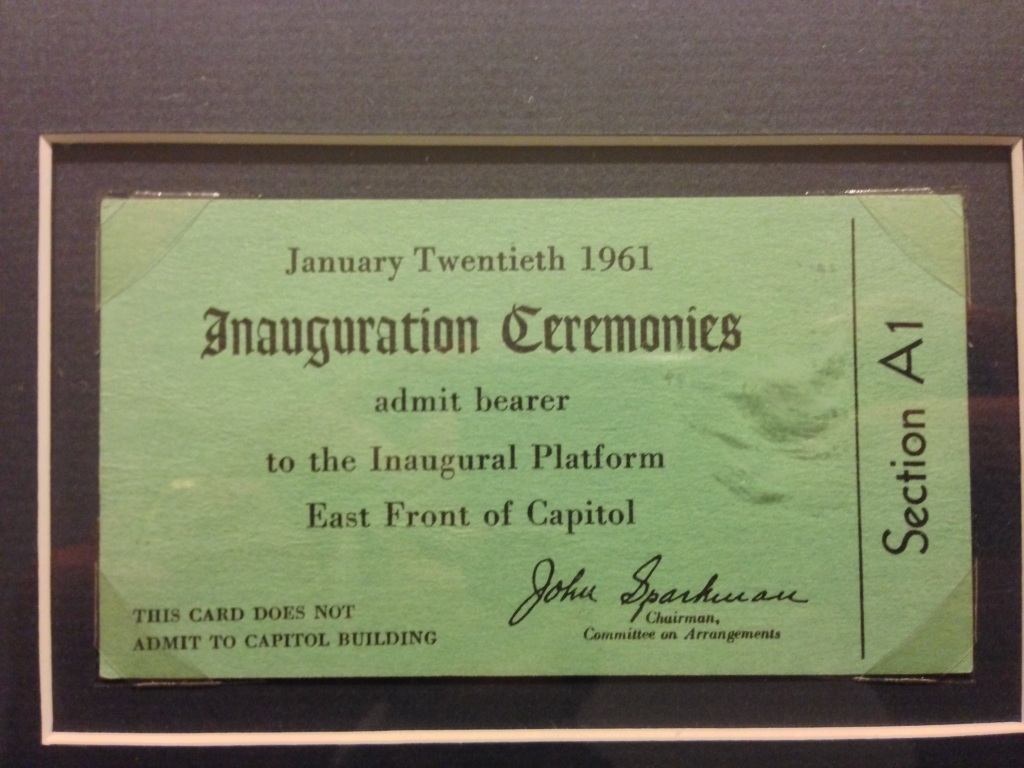 Inauguration ticket JFK