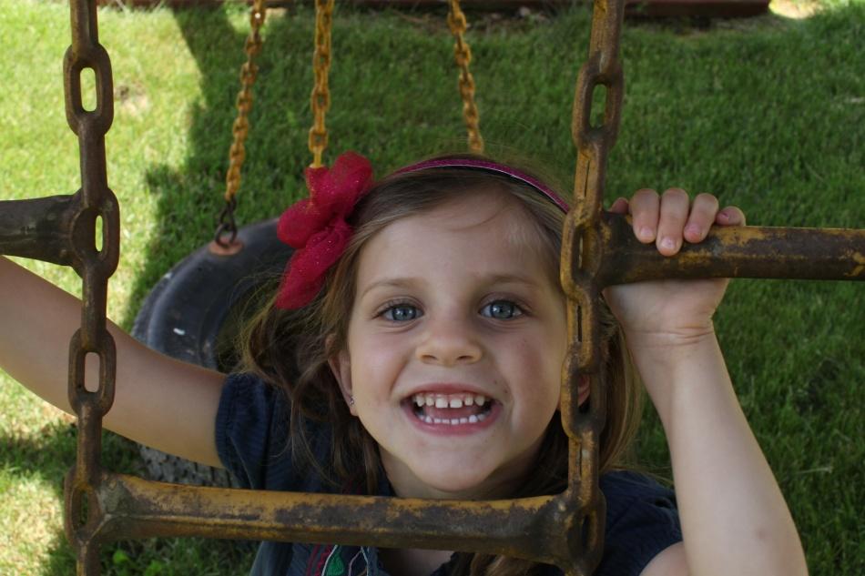 Maura on the playground