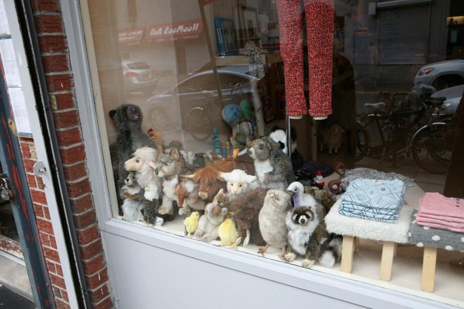 stuffed animal window