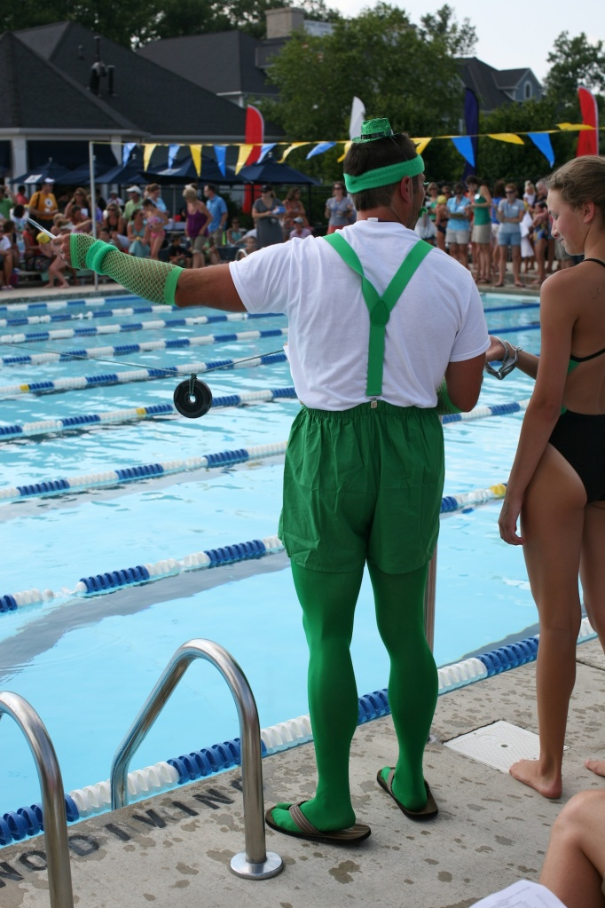swim coach as a leprechaun