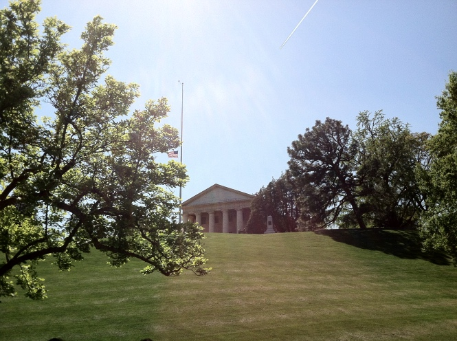 Arlington House from tomb