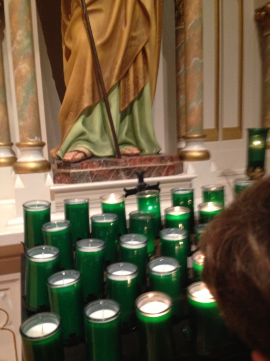 Candles at St Patricks