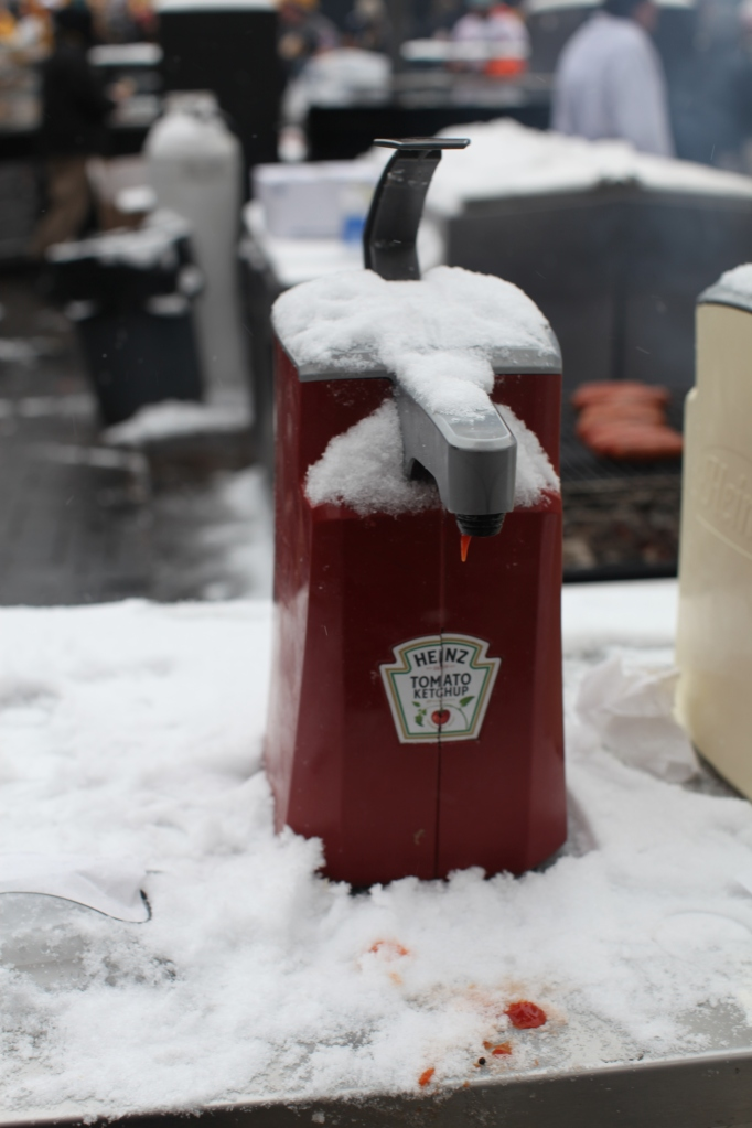 Snow on Condiments
