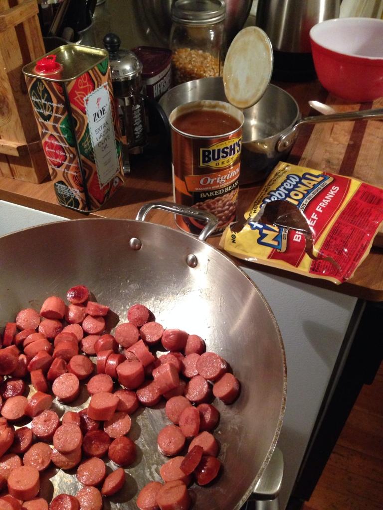 Weenies sliced like coins