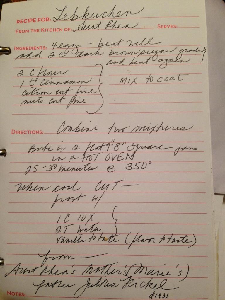 Lebkuchen recipe