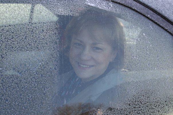 Marlene in a window