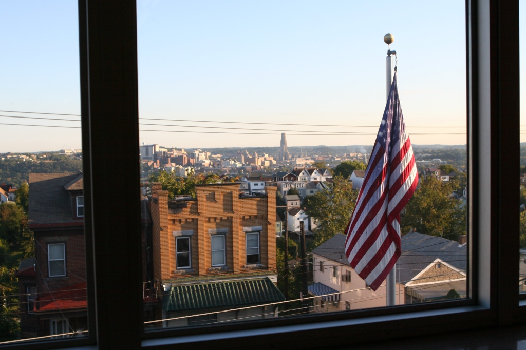 Flag and U of Pitt