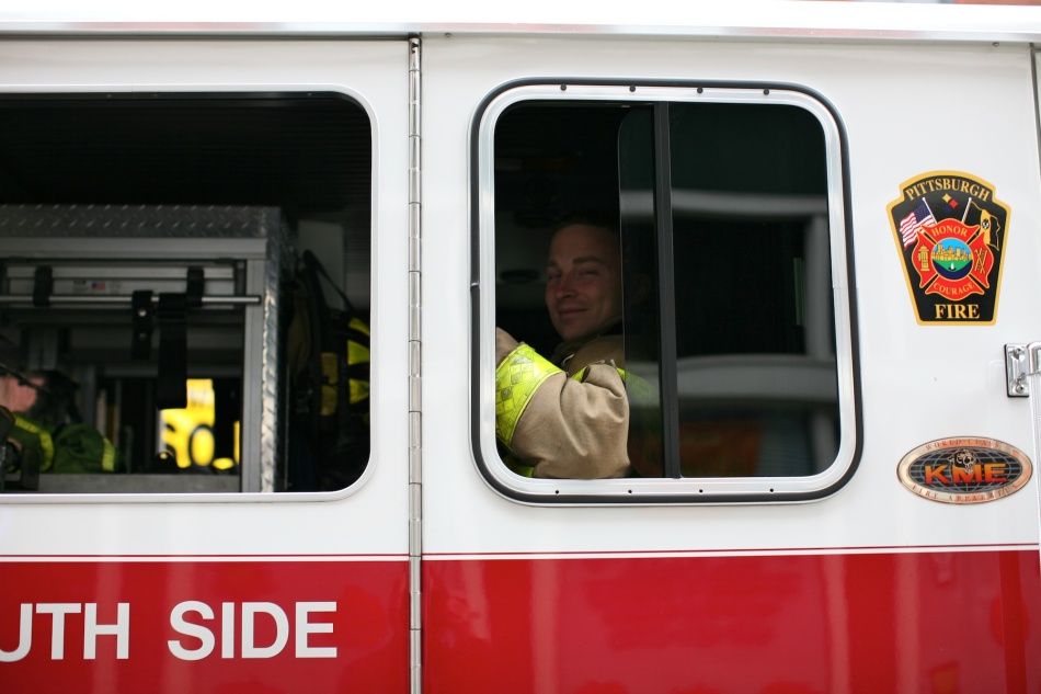 fireman in window