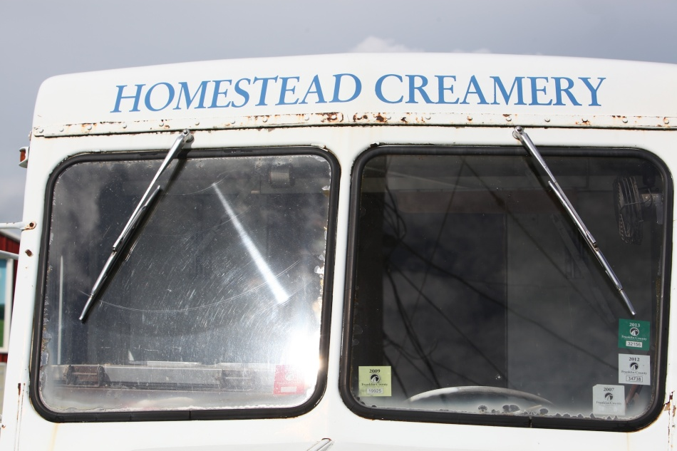 milk truck window