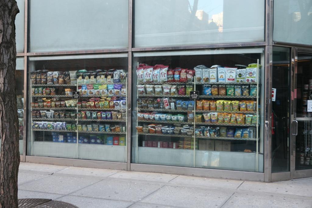 snacks in window