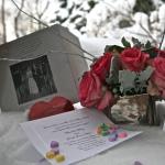 Valentine's Wedding Flowers Charlotte and Joel's wedding February 14, 2010
