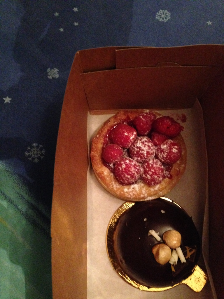 Pastries in a box