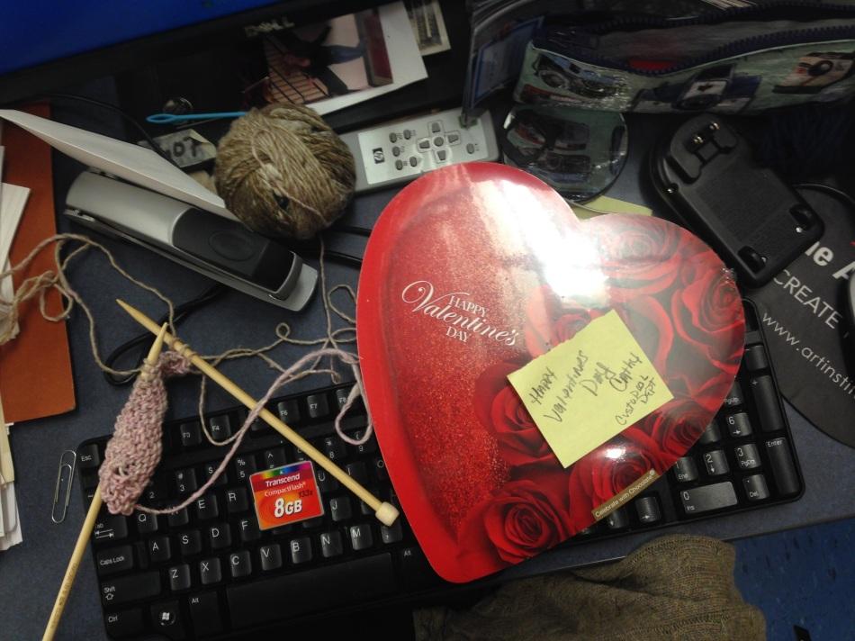 Valentine Heart on a Keyboard