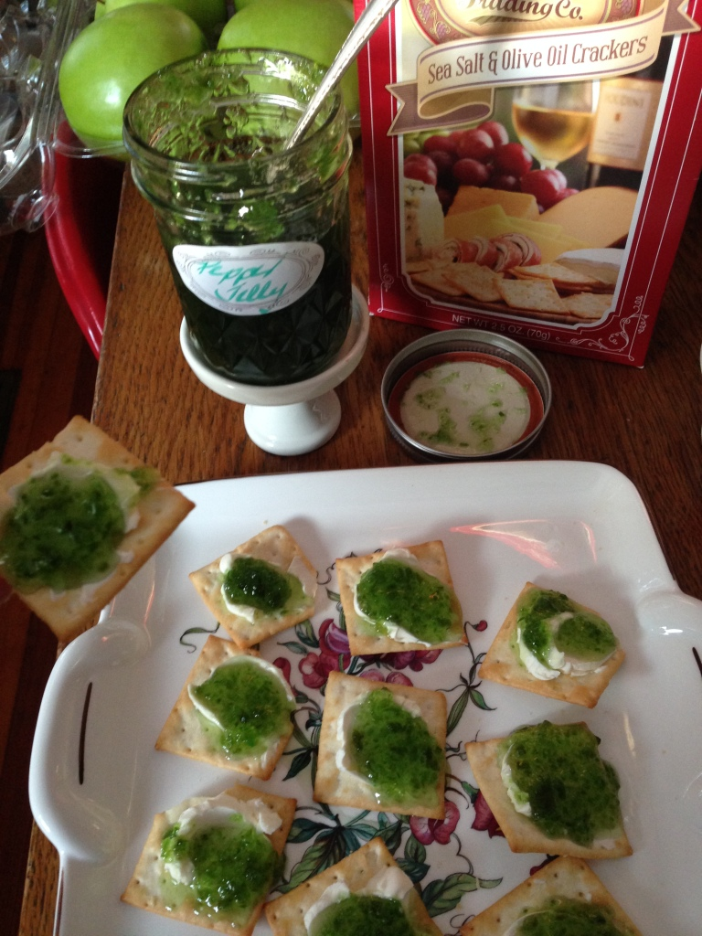 Green Pepper Jelly Appetizers