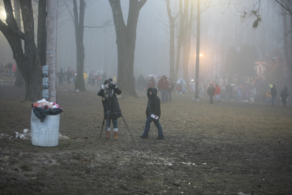 photographer at Gobbler's Knob