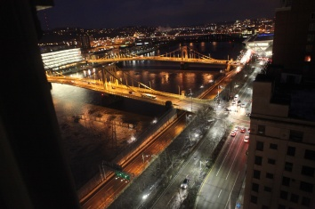 The sister bridges in Pittsburgh