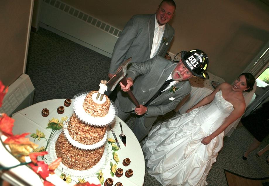 Burnt Almond Torte WEdding Cake
