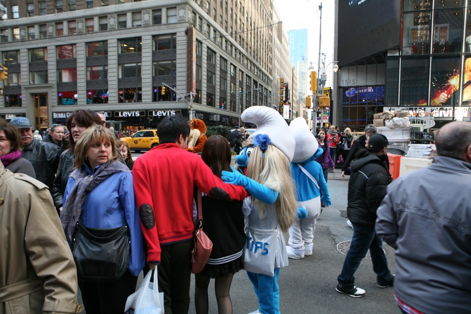Smurf in Times Square