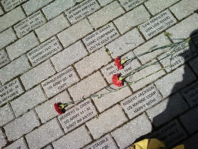 Bricks with Service Member Names
