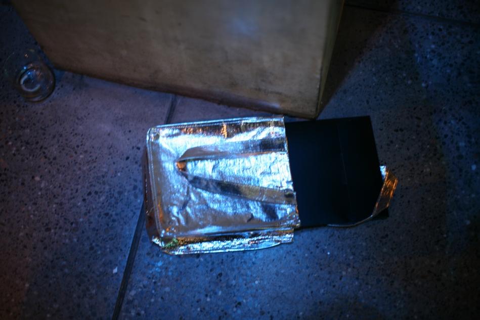 silver favor bag