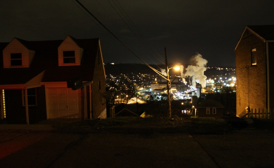 Steel Mill at night