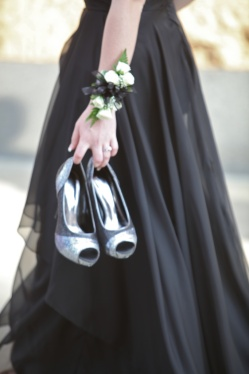 prom shoes and corsage