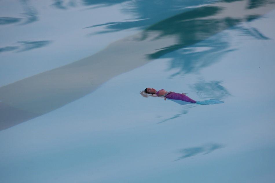 barbie in the pool