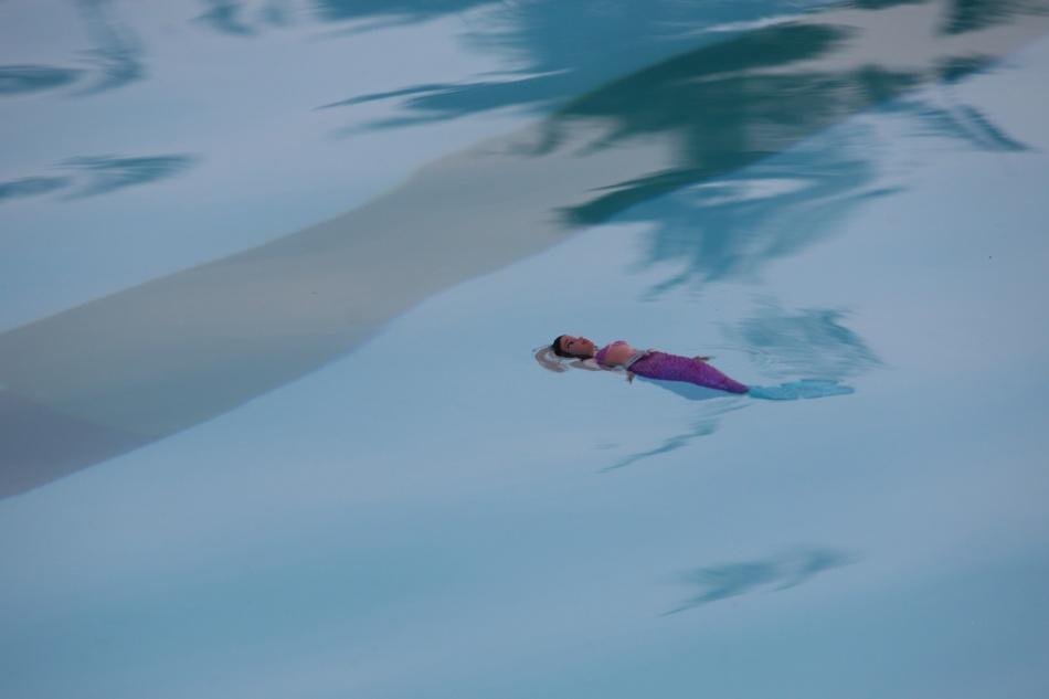 barbie in the pool