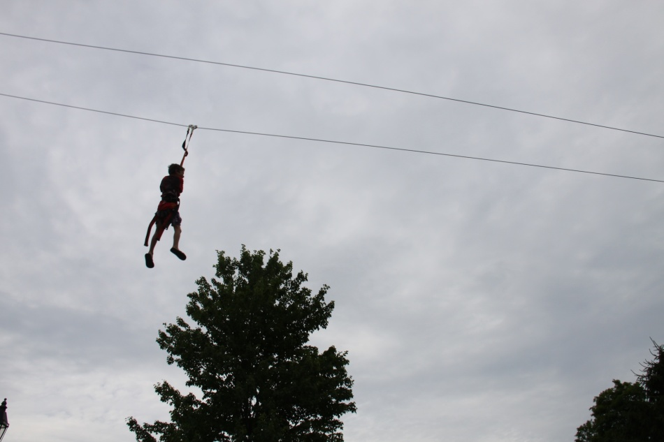 michael on the zip line