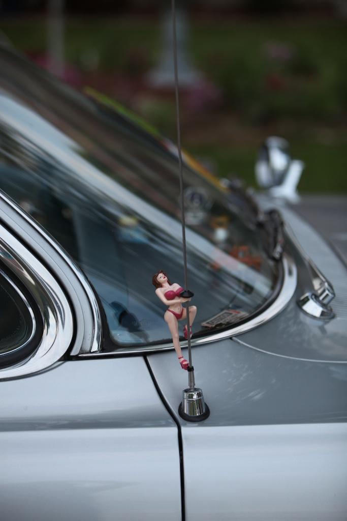 pinup girl on antennae