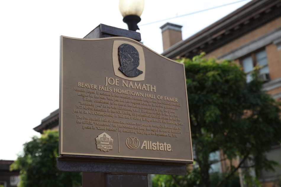Joe Namath Plaque