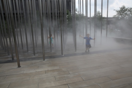 emerging from the mist