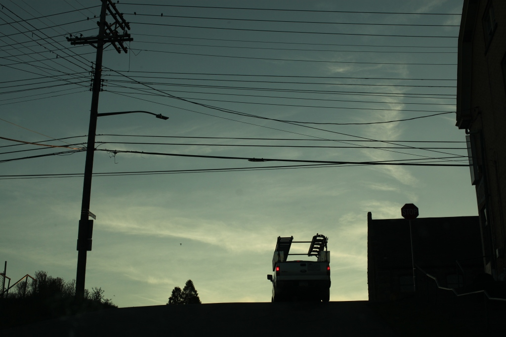 Work truck silhouette