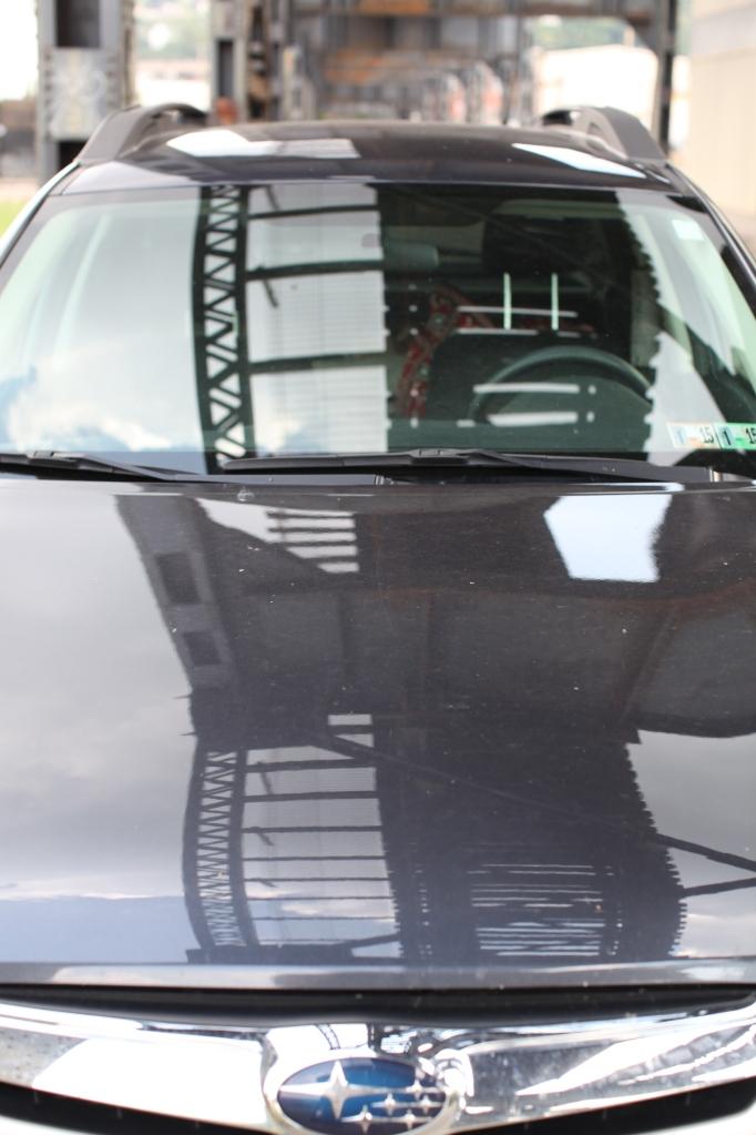 railroad ties in the hood of my car