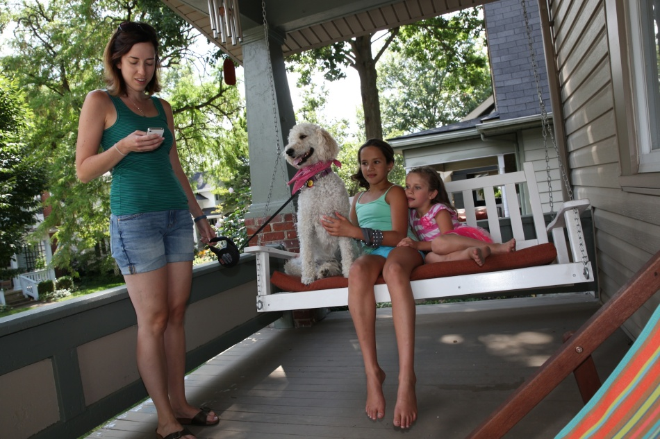 Aunt Lala's front porch