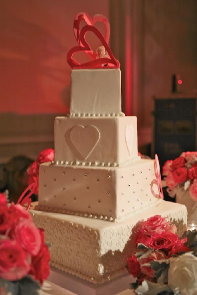wedding cake Charlotte and Joel