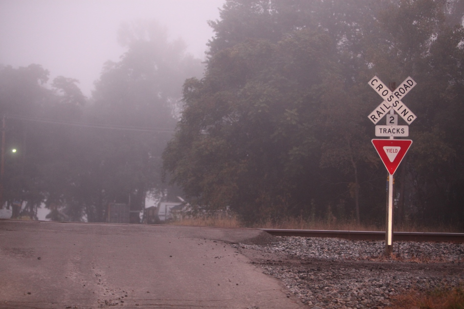 Railroad Crossing in the Fog