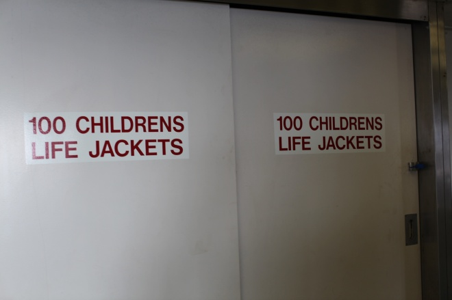 childrens life jackets signs