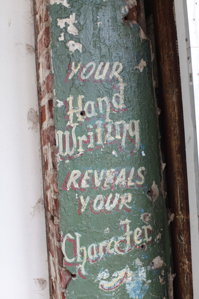 handwritng sign