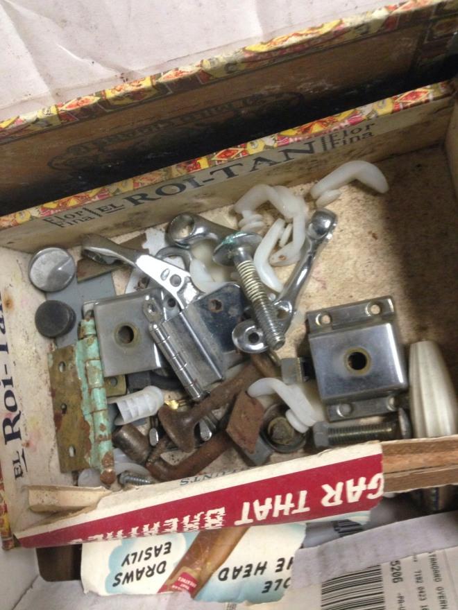 cigar box with parts