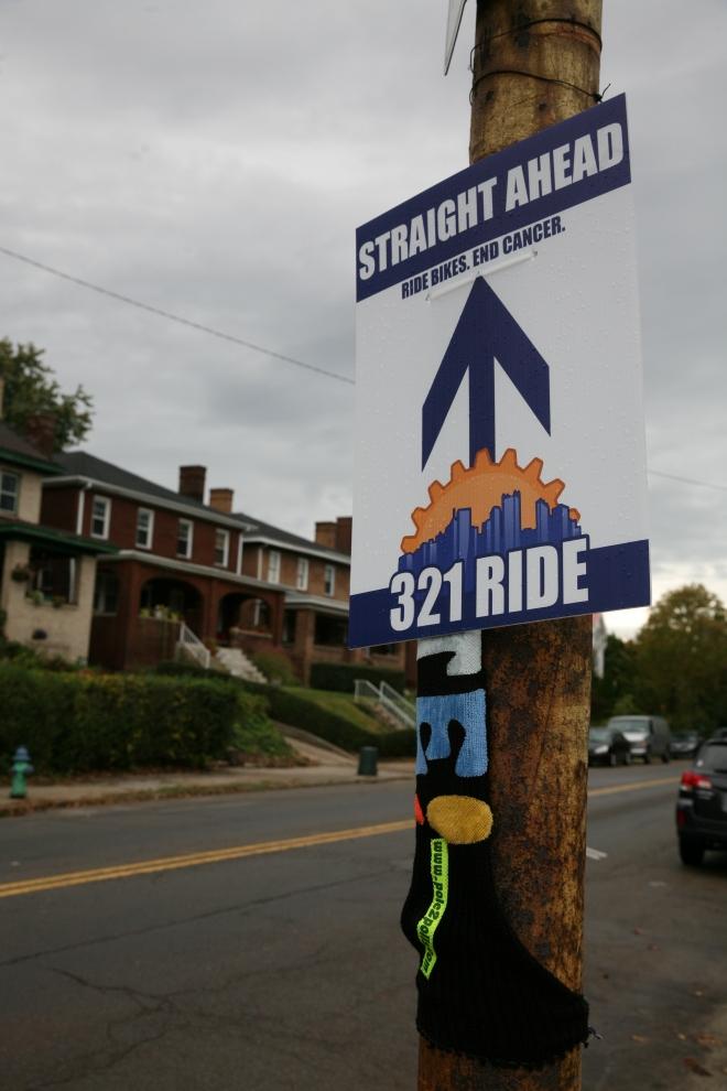 321 Bike Ride Sign