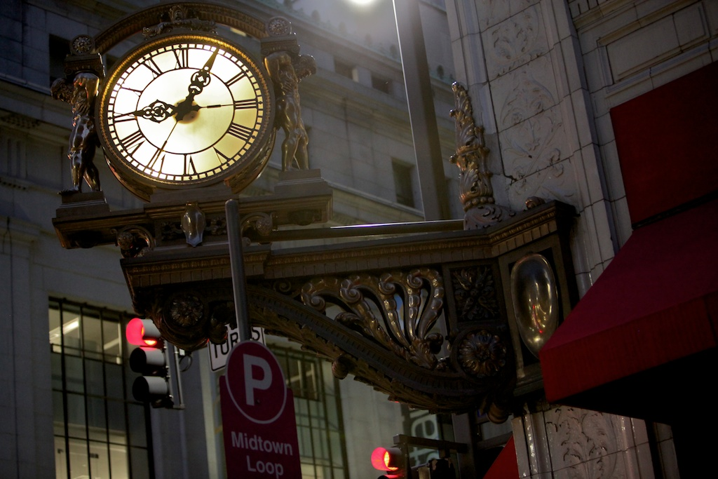 Kaufmann's Clock at Night
