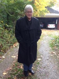 Steve in my dad's coat