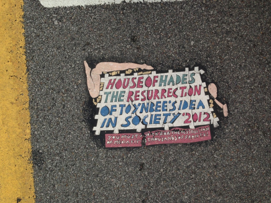 Toynbee Tiles sign