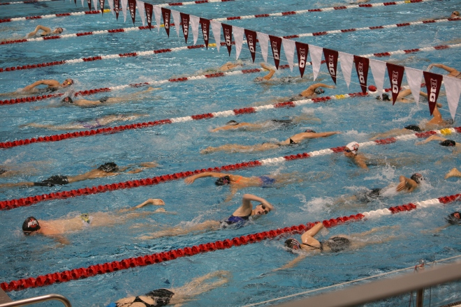 swim meet warm ups