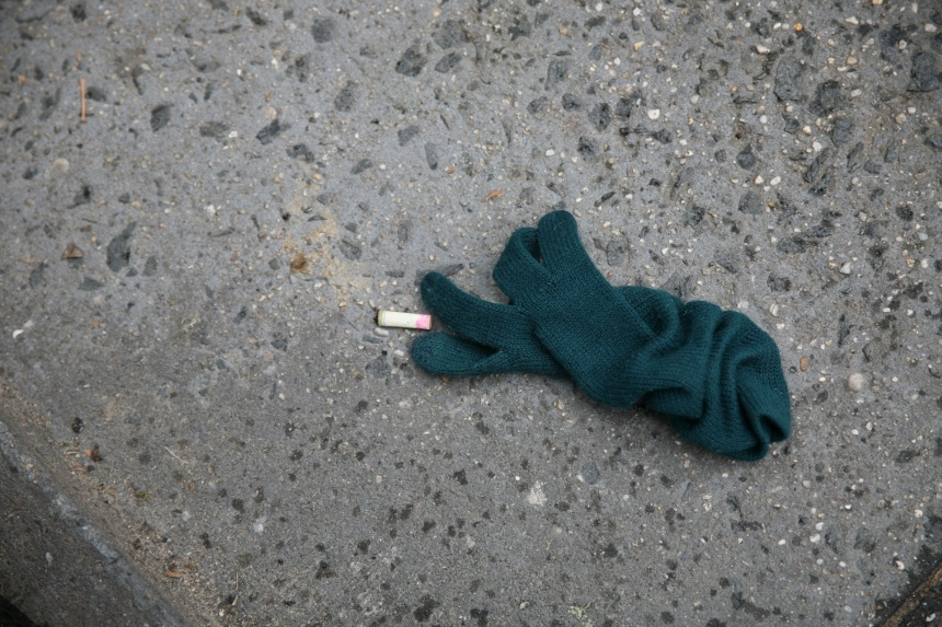 glove and cigarette