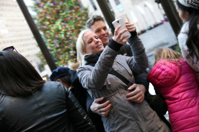 selfie at the Rockefeller Tree